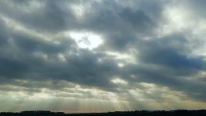 Mooie weekend wolken